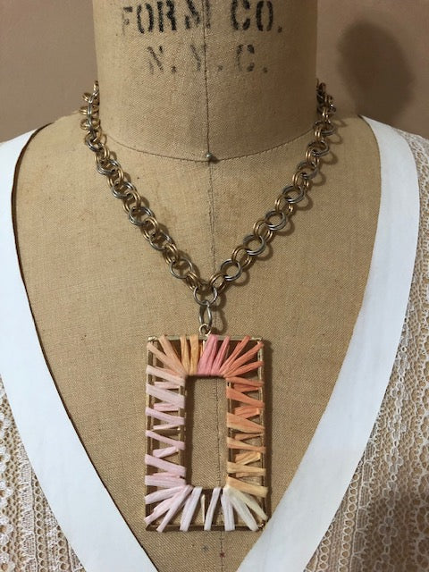 TWO TONE SQUARE CHAIN NECKLACE