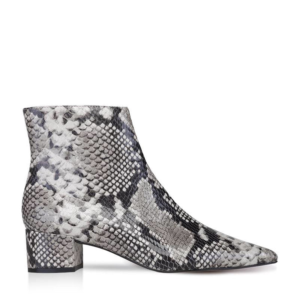 JULIA- BOOTIE PYTHON SKIN EMBOSSED ICE.