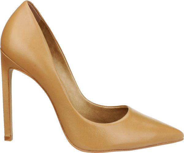 MARTINA-DRESS PUMP LEATHER CAMEL