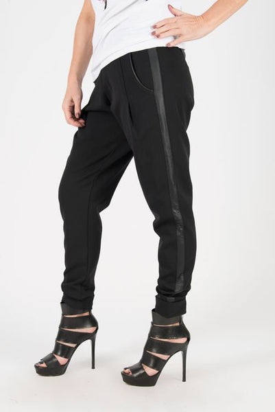 Black Cotton Tight Pants, Black Elegant leggings.