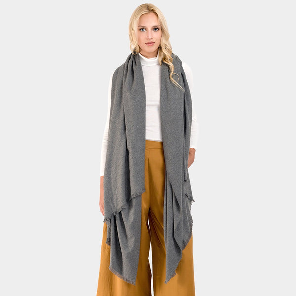 Oversized Solid Oblong Scarf.