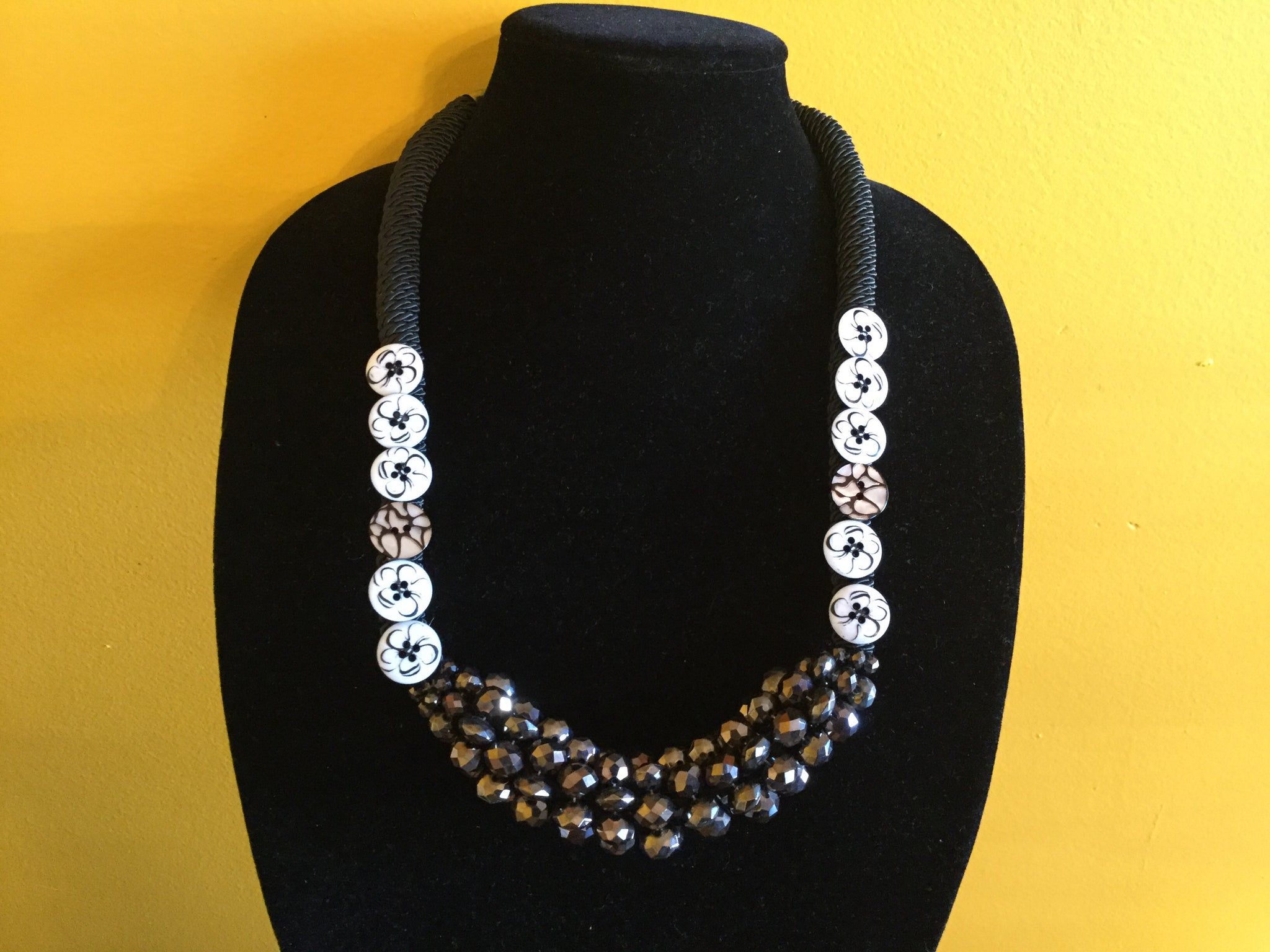 Button Up Corded Necklace.