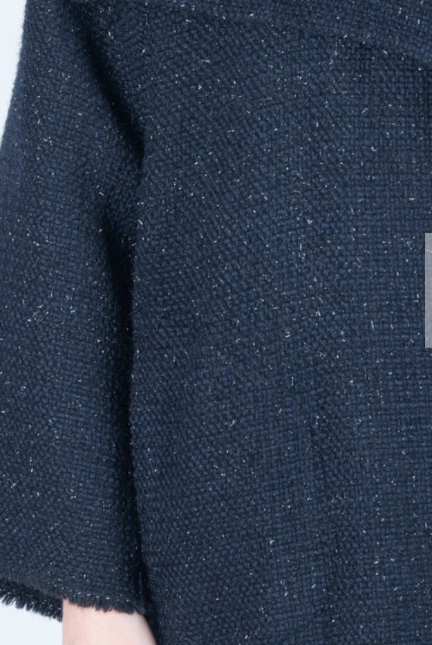 Wool Blue Winter Coat, Winter cardigan.