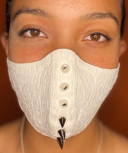 Textured Jacquard Spike Face Mask