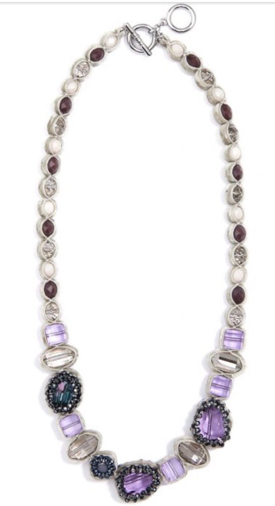Velvet And Crystal Collar Necklace Jewelry.