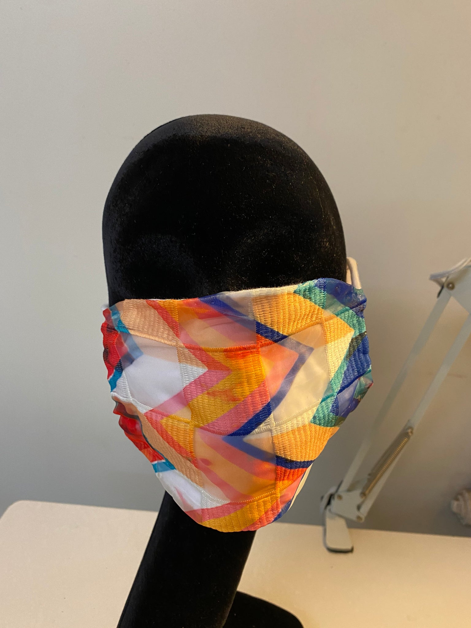 Colored Waves Mask.
