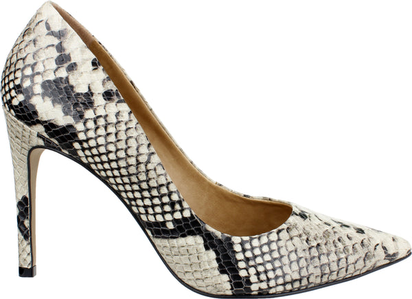 DIANA-STILETTO PUMP PYTHON ICE EMBOSSED LEATHER
