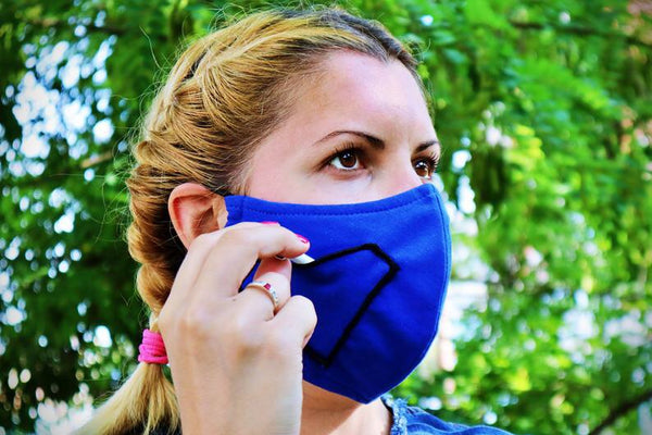 Cotton Mask, Reusable Face Mask 3D, Face Mask with Pocket for Headphones.