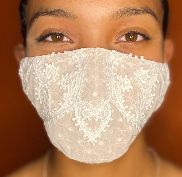Chiffon Lace Face Mask