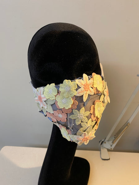 Meadow of flowers mask.