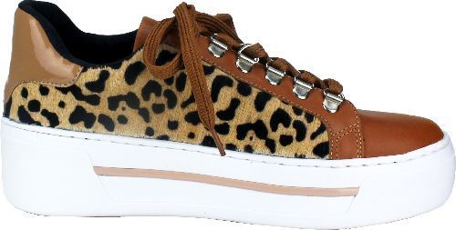 SNEAKER LEATHER/CALF FUR LEOPARD.