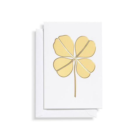 Vitra Greeting Card Four Leaf Clover, gold