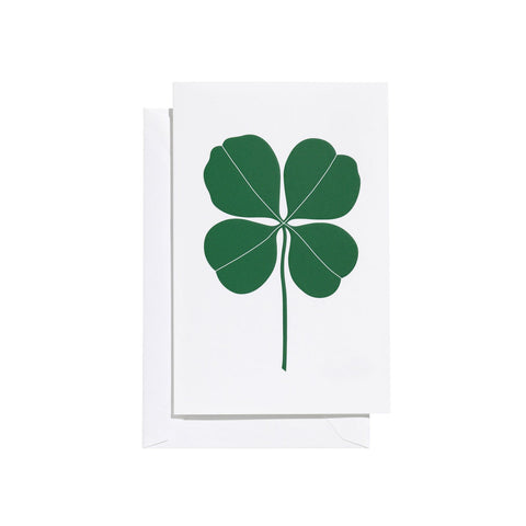 Vitra Greeting Card Four Leaf Clover, green