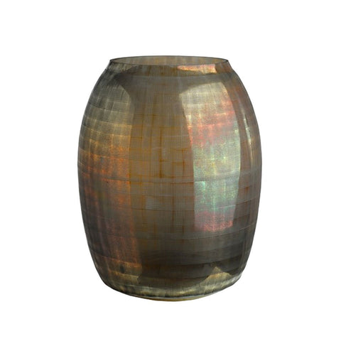 Pols Potten Vase Checkered Brown 29,5x37cm Glas braun