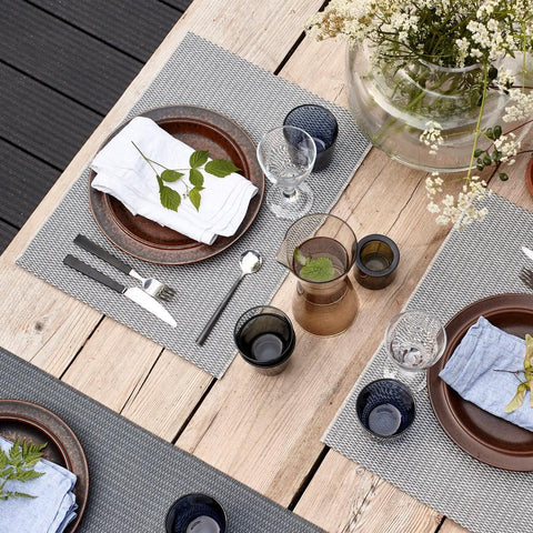 Woodnotes Tischset Morning 4er Set schwarz/natur