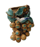 ceramic grapes wall vase