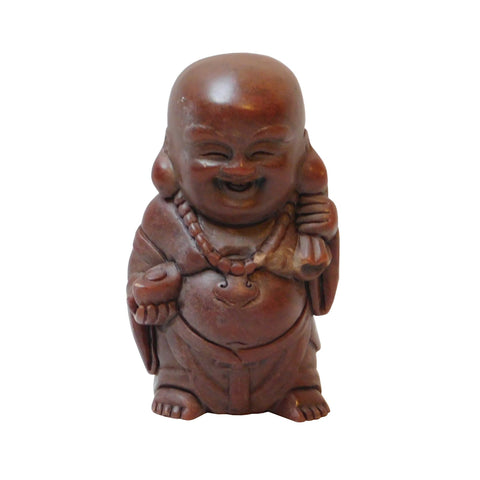 small stone Happy Buddha statue