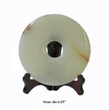 Chinese Natural Stone Feng Shui Round Home Decor Display cs994-13S
