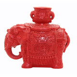 red resin lacque elephant statue