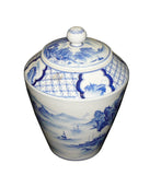 Asian porcelain container jar