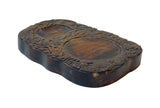 wood carved dragon calligraphic pad