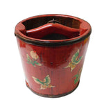 red wood bucket