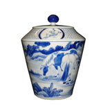 Chinese blue and white horse jar