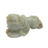 Hand Carved Natural Green Jade Feng Shui Lucky Pixiu Figure Pendant k197NS