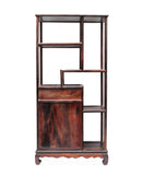 rosewood small display cabinet