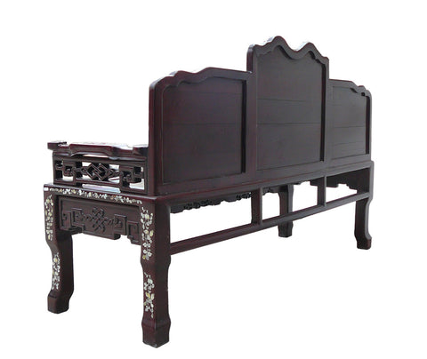 ... Antique Traditional Chinese Red Rosewood Mother Of Pearl Long Bench  Chaiser Cs962S ...