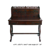 Antique European Writing Desk with Drawers and Pullout Top, Secretary Table cs1029S