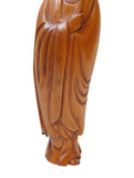 Quality Handcrafted Chinese Solid Boxwood Standing Kwan Yin Bodhisattva Statue n239S