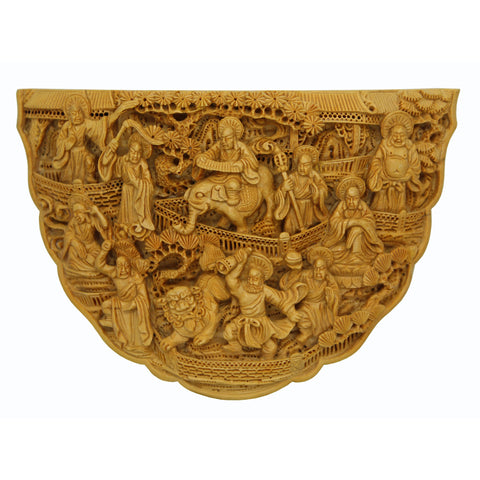 Archats riding elephant and lion