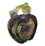 glass apple statue