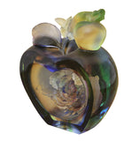 Liuli Crystal Glass Pate-de-verre Rose Apple Paperweight Lucky Display Decor vs733S
