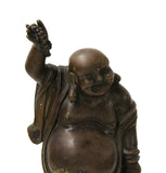 Chinese Bronze Metal Crafted Happy Laughing Buddha Budai Luohan Statue cs106S