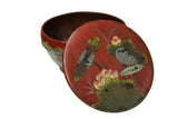 Asian antique red color basket