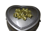 heart shape pewter jewelry box