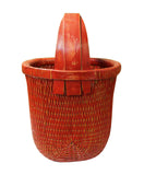 Chinese village bamboo basket