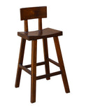 solid wood bvar stool
