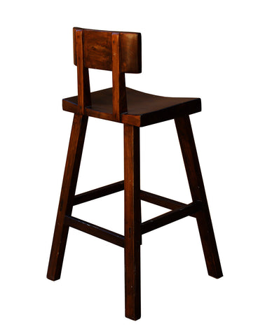Quality Handmade Solid Wood Dark Brown Color Tall A Shape
