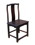 old solid wood village chair