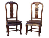 Pair Handmade Chinese Old Shanghai Design Solid Red Wood SuanZhiMu Rosewood Chair wk2601S