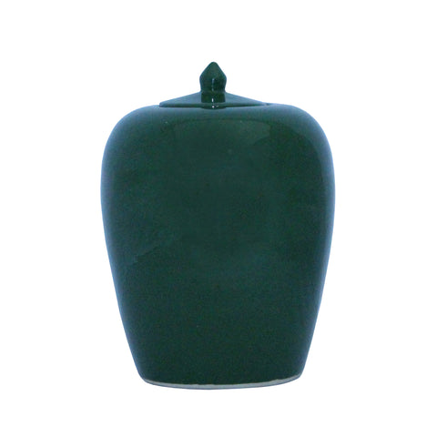 Simple Modern Handmade Plain Green Glaze Porcelain Vase Jar vs012S Green