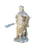 Chinese Silver Color General Guan Kwan Kong Metal Statue JZ124S