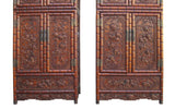 Chinese Rosewood Relief Foo Dog Carving Compound Cabinet sdc01S