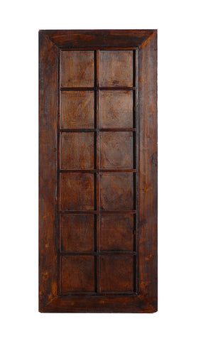 Oriental Tall Rectangular Red Fabric Lacquer Frame Floor Mirror ...