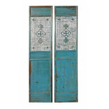 Chinese antique blue tall panel