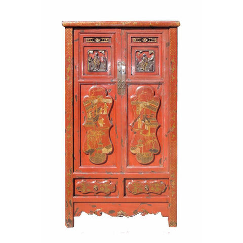 Chinese fujian carved cabinet