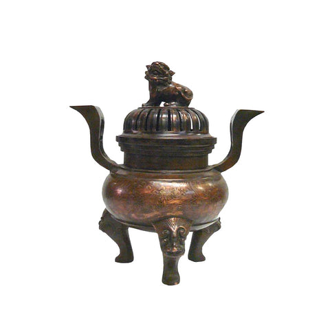 bronze Foo Dog incense burner